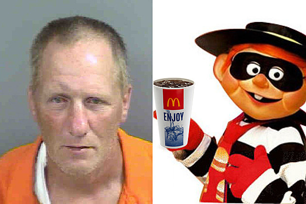 Man Steals McDonald's Soda