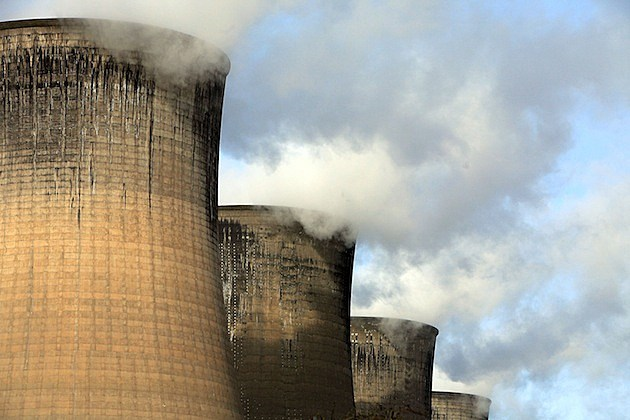 smoke stacks nuclear power plant cooling towers