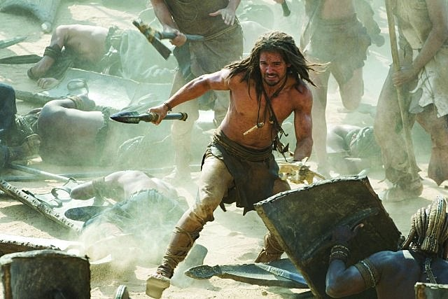 Steven Strait shirtless in '10,000 BC'