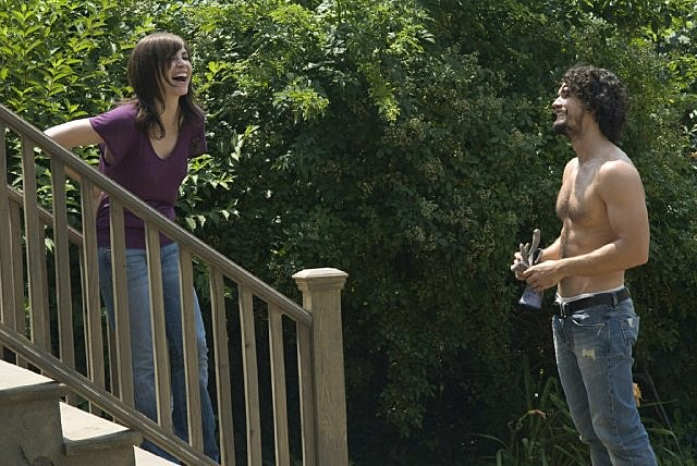 Steven Strait shirtless in 'City Island'