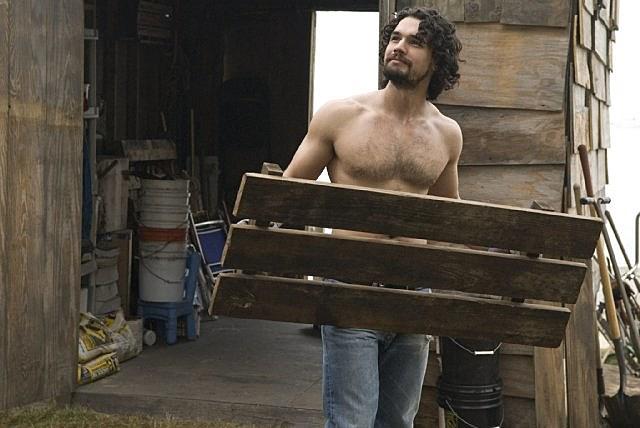 Steven Strait shirtless in 'City Island'