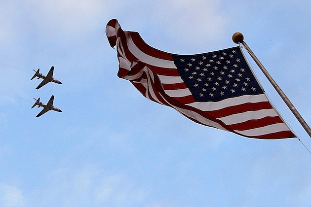 O'Reilly Auto Parts 300 american flag planes fly-over jets