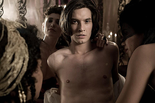 Ben Barnes shirtless in 'Dorian Gray'