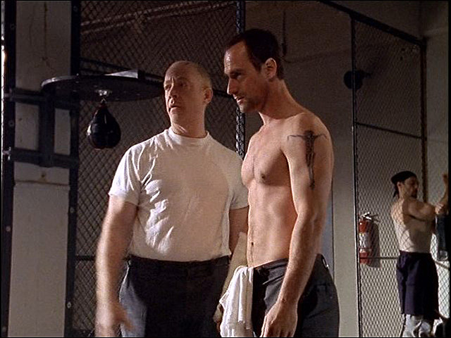Christopher Meloni shirtless in 'Oz'
