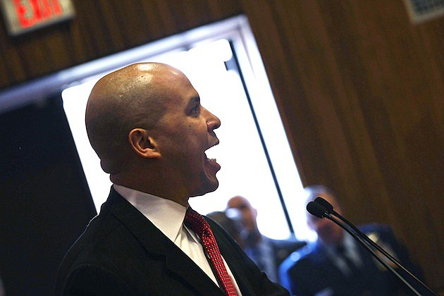 Veterans Job Fair Held On Newark Campus Of Rutgers University cory booker