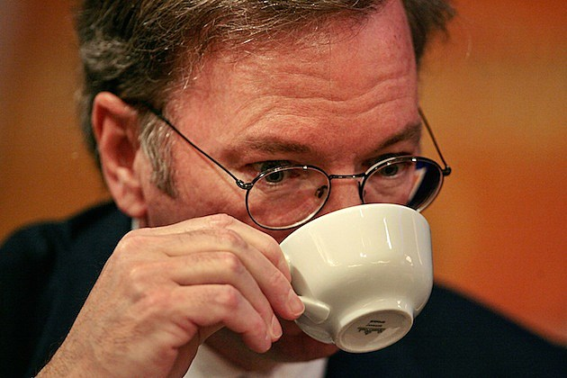 Google CEO Eric Schmidt Discusses Future Of The Internet coffee cup mug