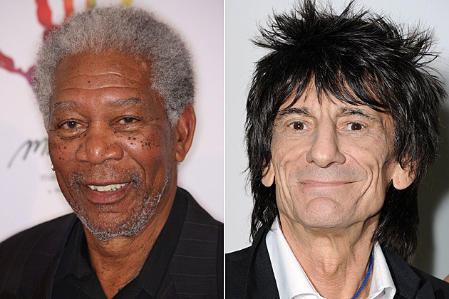 Morgan Freeman, Ronnie Wood
