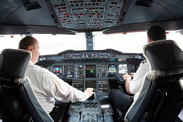 Emirates Launches Daily A380 Flights From Dubai To Munich airplane pilots cockpit