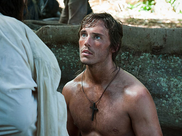 Sam Claflin shirtless in 'Pirates of the Caribbean: On Stranger Tides'