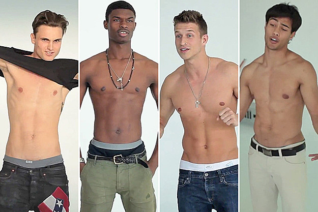 Shirtless Male Models in Fake Hollister Casting Call