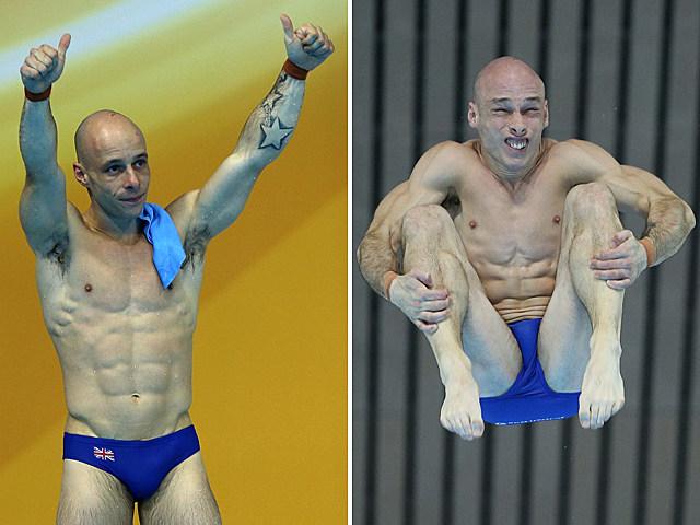 Shirtless Swimmer Peter Waterfield