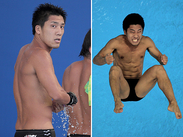 Shirtless Swimmer Yu Okamoto