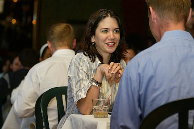 New York Singles Socialize During Speed Dating Sessions