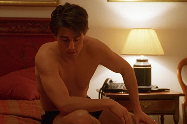Tom Cruise shirtless in 'Eyes Wide Shut'