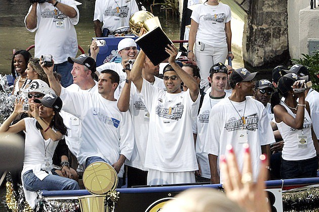 Spurs win 2005 NBA Title