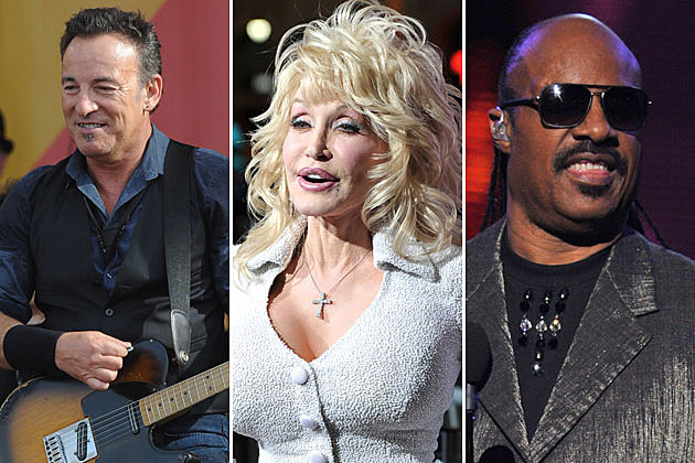 Bruce Springsteen, Dolly Parton, Stevie Wonder