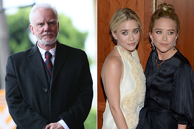 Malcolm McDowell, the Olsen Twins