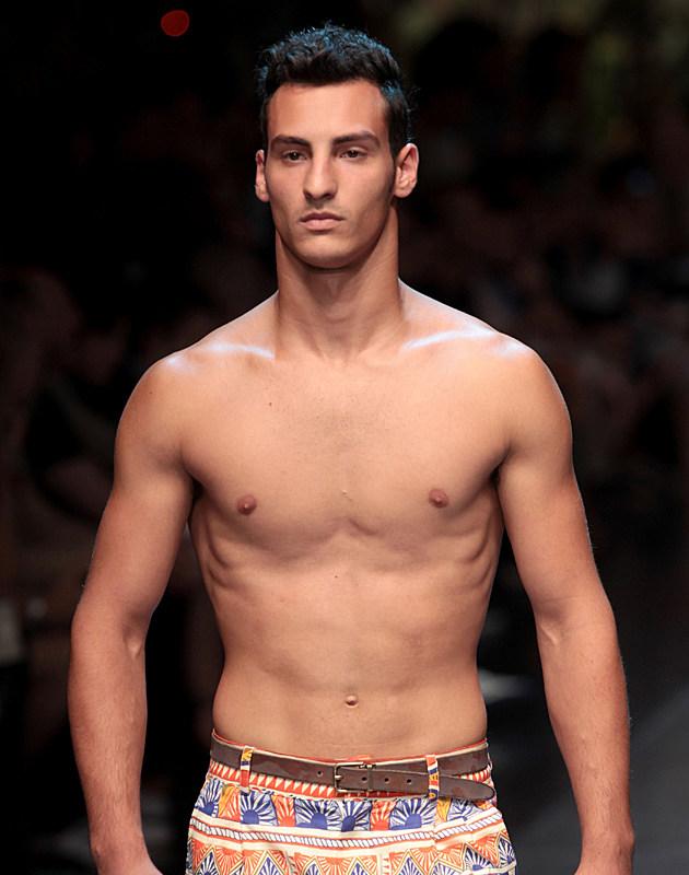 Shirtless Male Models of Milan Fashion Week