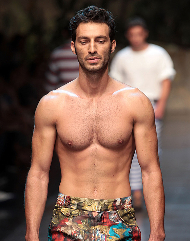 Shirtless Male Models of Milan Fashion Week