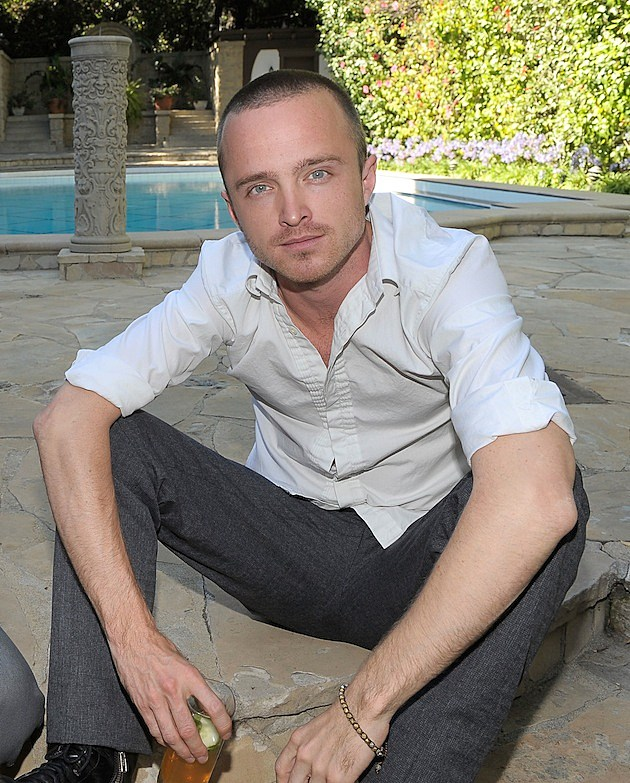 Aaron Paul at Burberry Beauty Garden Tea Event