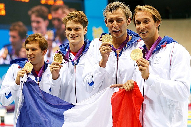 French swimmers