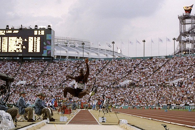 Carl Lewis Fourth Gold