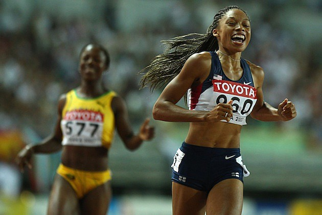 Allyson Felix, Veronica Campbell-Brown