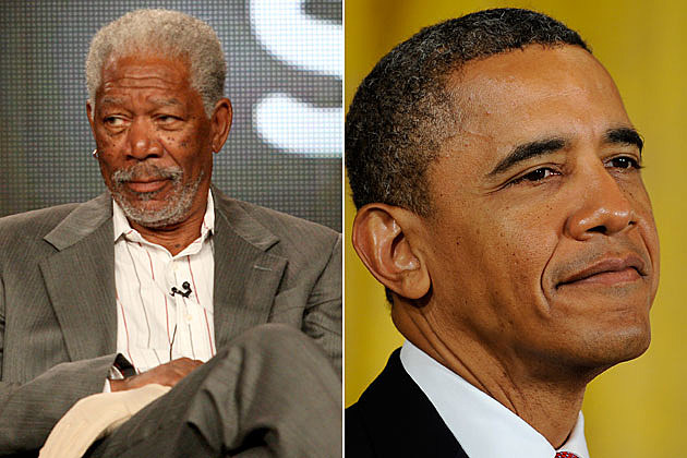 Morgan Freeman, President Obama
