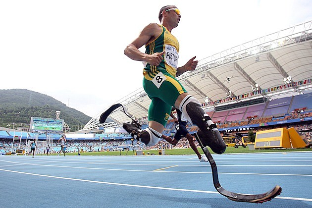 Oscar Pistorius low