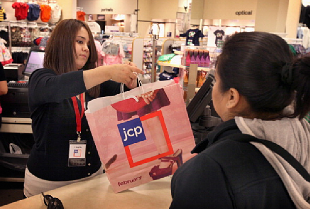 JCPenney shopper and clerk