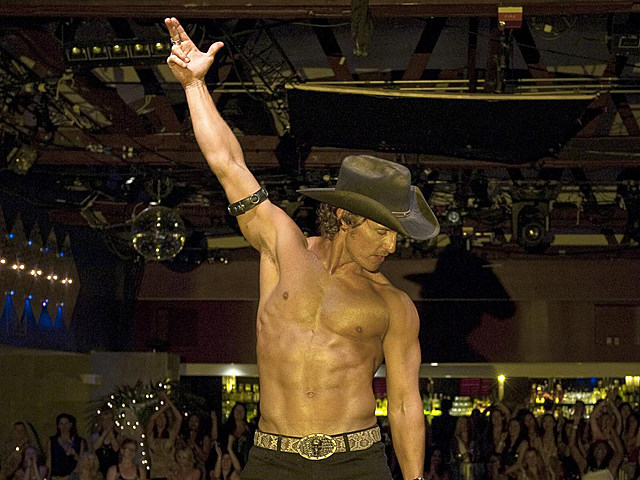 Matthew McConaughey shirtless in 'Magic Mike'