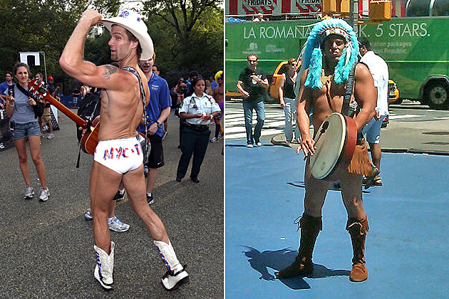 Naked Cowboy vs. Naked Indian