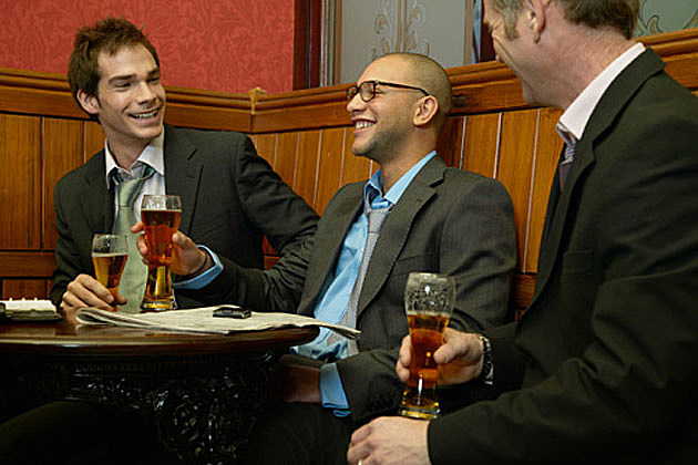 Businessmen drinking