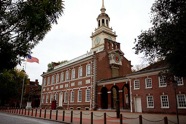 Independence Hall is a great illustration for kids about how this country got off its feet