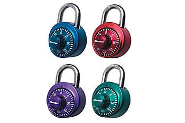 colored pad locks, perfect for school lockers