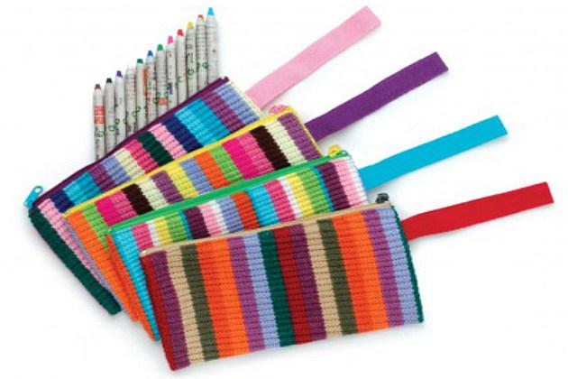 colorful pencil cases