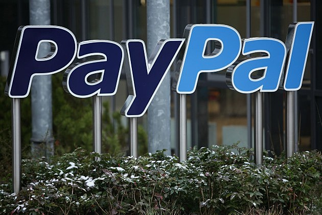 A sign for Internet payment transaction portal PayPal