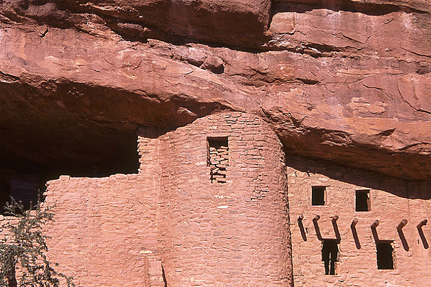 Kids can be a part of pre-history by walking through the cliff dwellings in Manitou Springs, CO