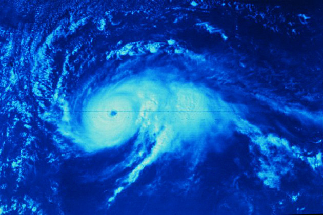 Satellite photo of Hurricane Anita in 1977