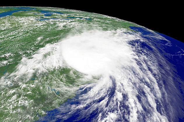 Satellite photo Hurricane Charley in 2004