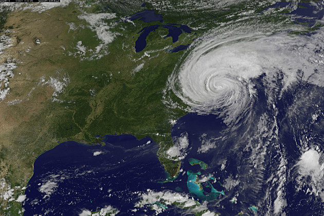 Satellite photo of Hurricane Irene in 2011