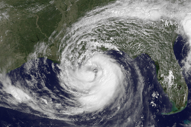 Satellite photo of Hurricane Isaac in 2012
