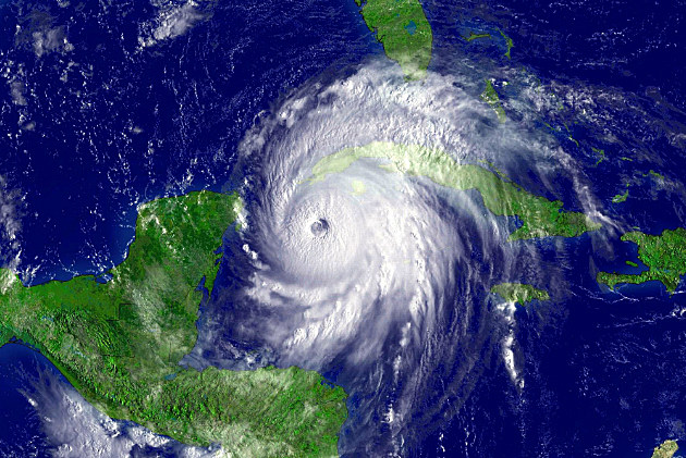 Satellite photo of Hurricane Ivan in 2004