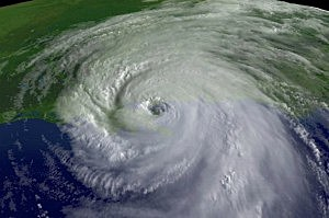 Satellite photo of Hurricane Katrina in 2005