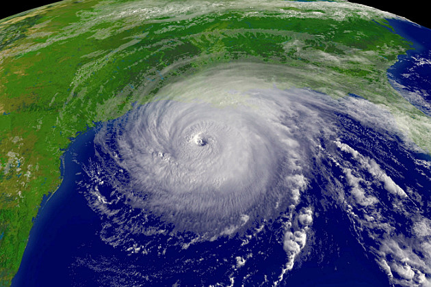 Satellite photo of Hurricane Rita in 2005