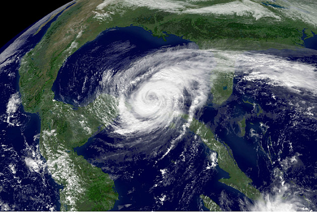 Satellite photo of Hurricane Wilma in 2005