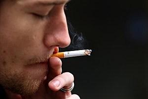Smoker on May 31, 2011 in San Francisco, California.