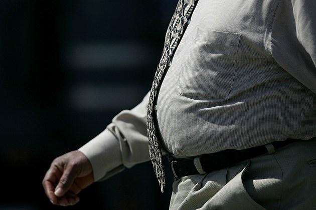 overweight businessman