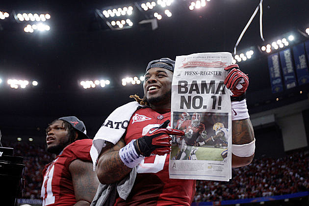 Alabama is #1 in the first BCS poll of the season.