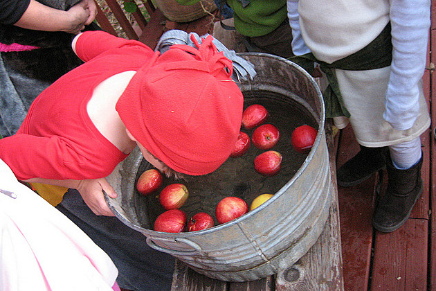 Bobbing for apples used to determine who would be married next.